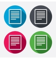 Text file sign icon File document symbol vector image