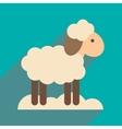 flat icon with long shadow Christmas lamb vector image