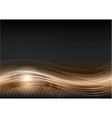 wave abstract brown vector image vector image