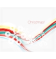 Snowflakes on wave line Christmas and New Year vector image vector image