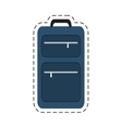 blue suitcase travel equipment cut line vector image