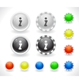 website GUI buttons vector image vector image