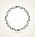 Greek round frame ornament on white backround vector image