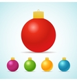 Set of color Christmas balls vector image vector image