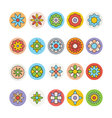 Flowers and Floral Colored Icons 6 vector image