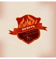 BBQ barbecue logo emblem design vector image