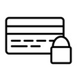 credit card security with lock line icon 48x48 vector image