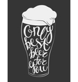 glass of beer lettering vector image