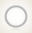 Greek round frame ornament on white backround vector image