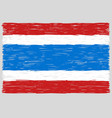 hand drawn thai flag vector image