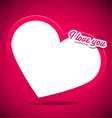 Heart with I Love You Title on Pink Background vector image