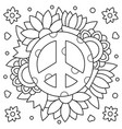 pacific coloring page vector image