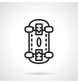 Skateboarding black line design icon vector image