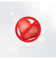 Stop or ban sign Heart icon End of love symbol vector image
