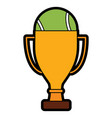 tennis trophy and ball champion competition sport vector image