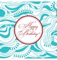 Happy birthday on wooden background vector image