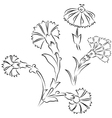 Turkish style digital floral drawing vector image