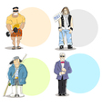 Four different men types vector image vector image
