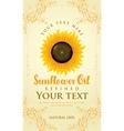 abel for sunflower oil vector image