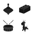 yula lego drum giraffetoys set collection vector image