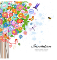 tree card vector image vector image