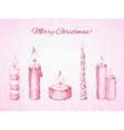 Christmas card in rosy colors vector image