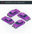 retro sedan car vector image vector image