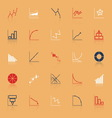 Economic and investment diagram line icon with vector image vector image