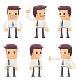 set of manager character in different poses vector image
