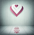 Valentines Day Wooden Background vector image