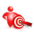 Social target icon vector image