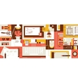 Abstract workspace design flat vector image
