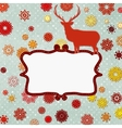 Christmas deer design template EPS 8 vector image