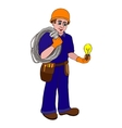 electrician on a white background vector image
