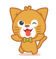 happy cat style character vector image