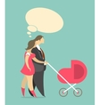 Married couple with a child vector image