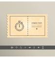 Simple stylish pixel icon stopwatch design vector image