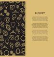 thin line jewelry and diamonds luxury banner vector image
