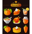 icon set with autumn and vector image
