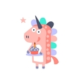 Unicorn With Party Attributes Girly Stylized Funky vector image