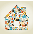 Art the house vector image vector image