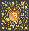 bitcoin golden pattern vector image vector image