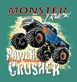 power crusher vector image