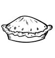 pie doodle vector image