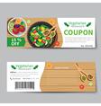 vegetarian food coupon discount template vector image vector image