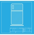 Refrigerator sign White section of vector image