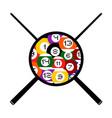 billiards symbol vector image