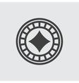 Casino chip with diamonds icon vector image
