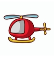 Red helicopter kid T-shirt design vector image