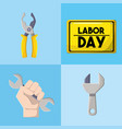 set labor tools to professional employers vector image